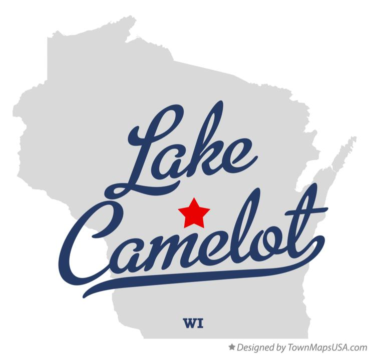 Map of Lake Camelot Wisconsin WI
