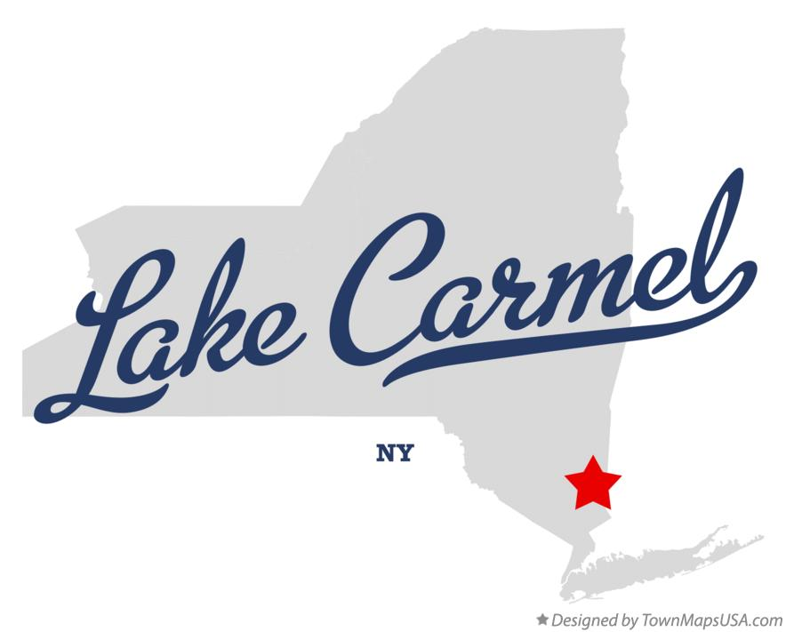 Map of Lake Carmel New York NY