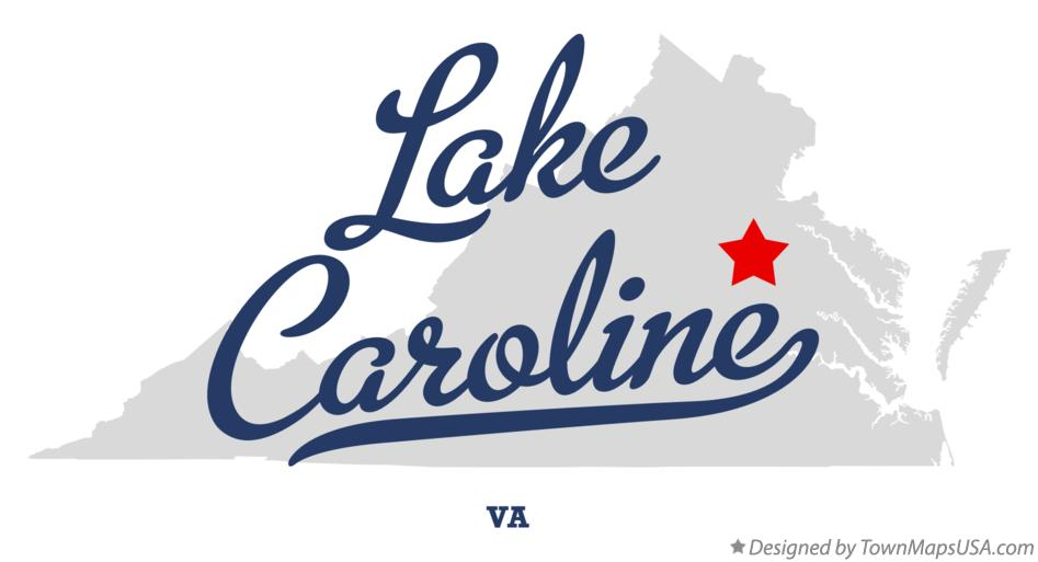 Map of Lake Caroline Virginia VA