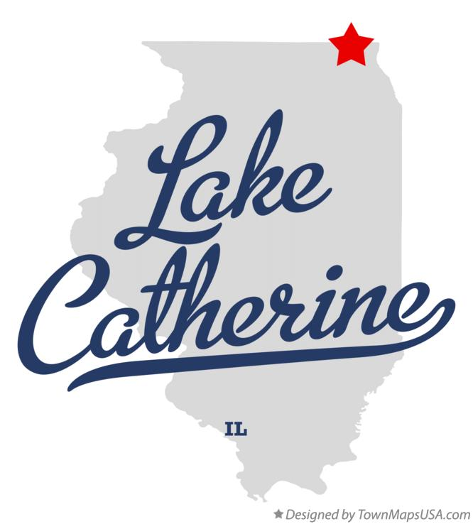 Map of Lake Catherine Illinois IL