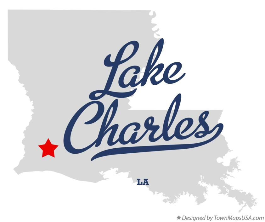 Map of Lake Charles Louisiana LA