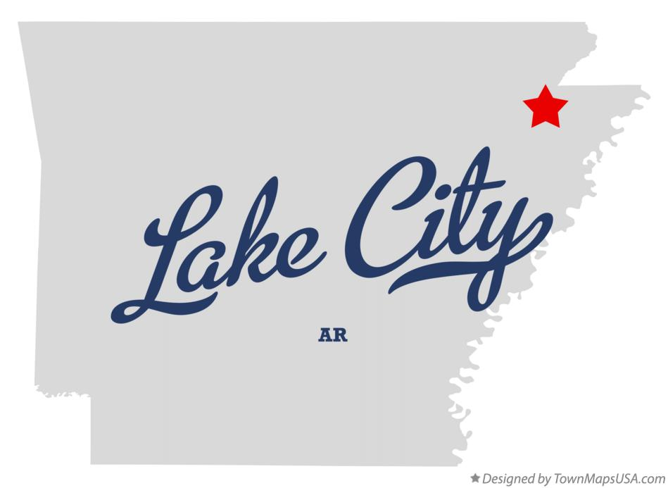 Map of Lake City Arkansas AR