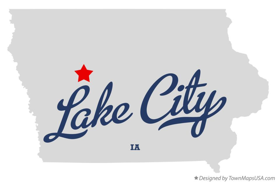 Map of Lake City Iowa IA