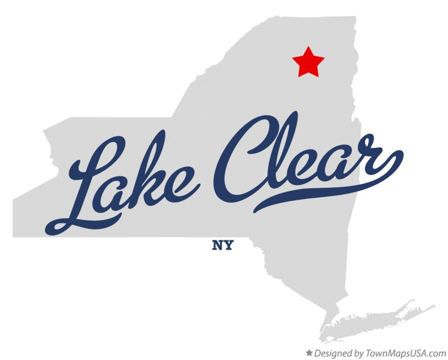 Map of Lake Clear New York NY