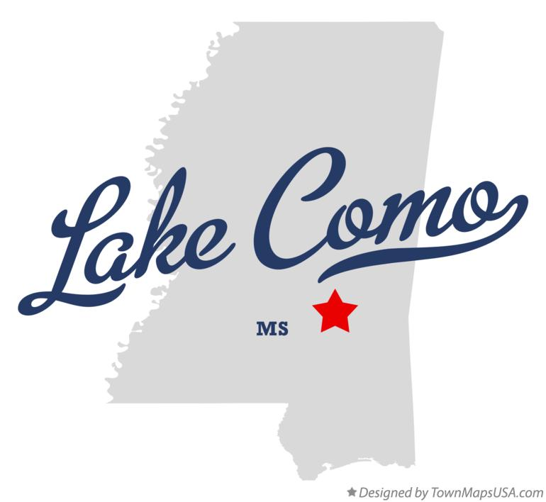 Map of Lake Como Mississippi MS