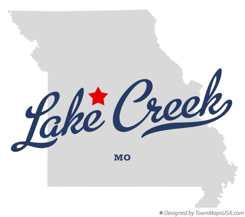 Map of Lake Creek Missouri MO