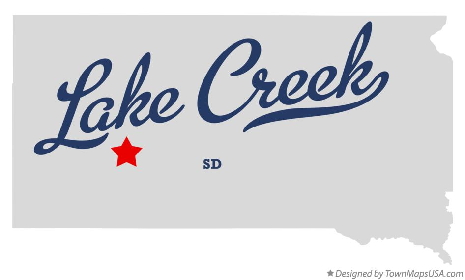Map of Lake Creek South Dakota SD