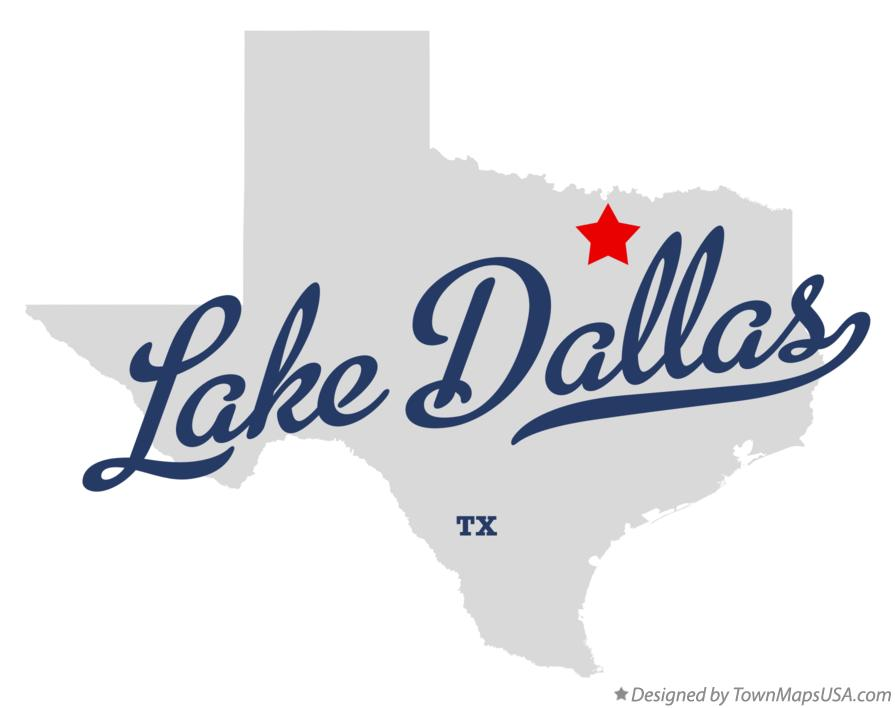 Map of Lake Dallas Texas TX