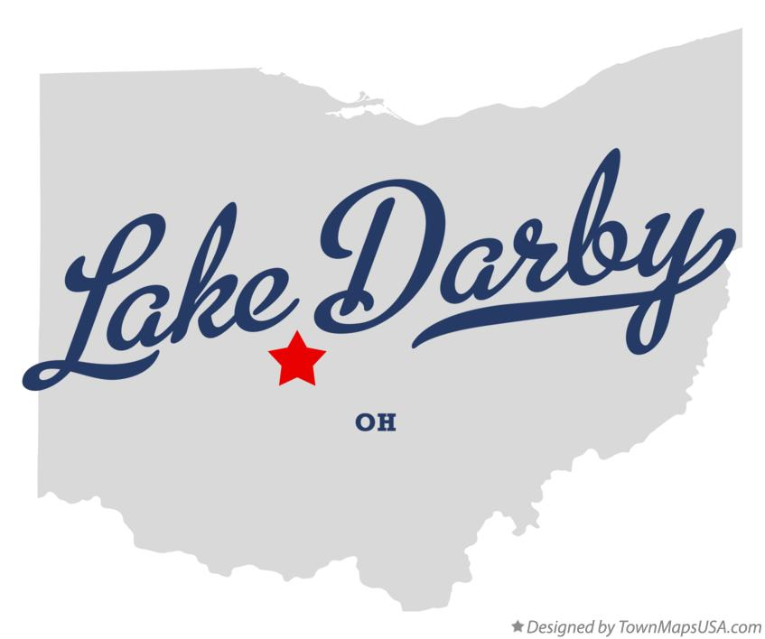 Map of Lake Darby Ohio OH