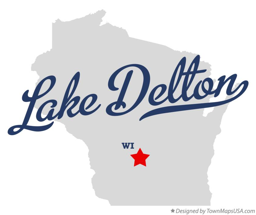 Map of Lake Delton Wisconsin WI
