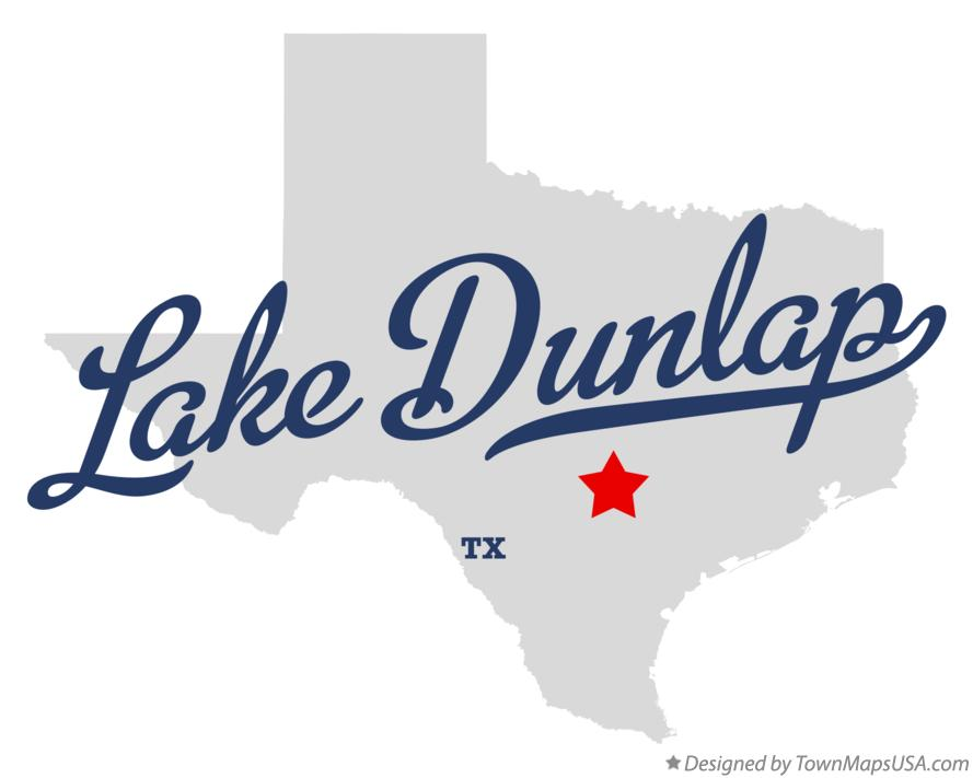 Map of Lake Dunlap Texas TX