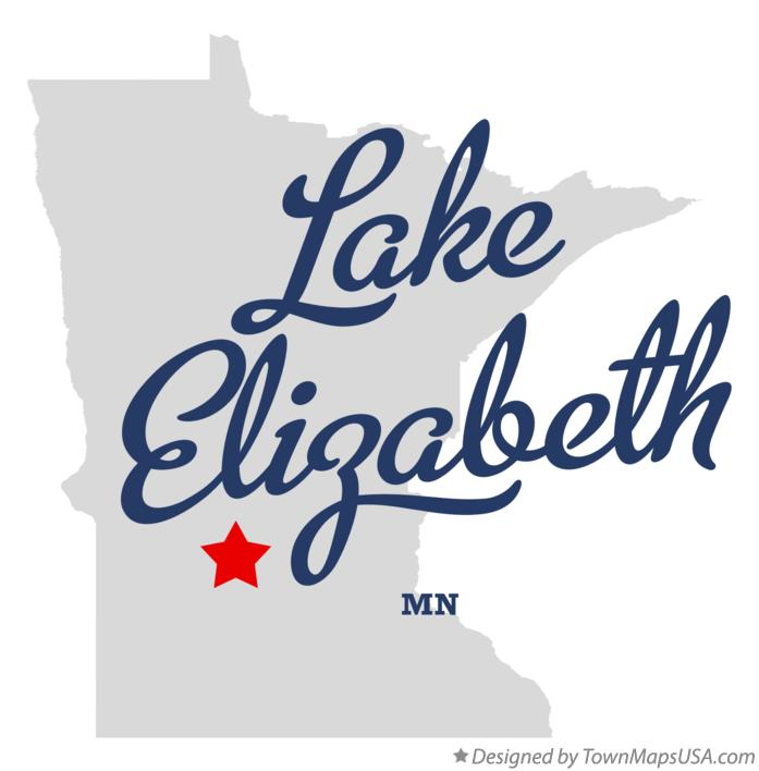 Map of Lake Elizabeth Minnesota MN