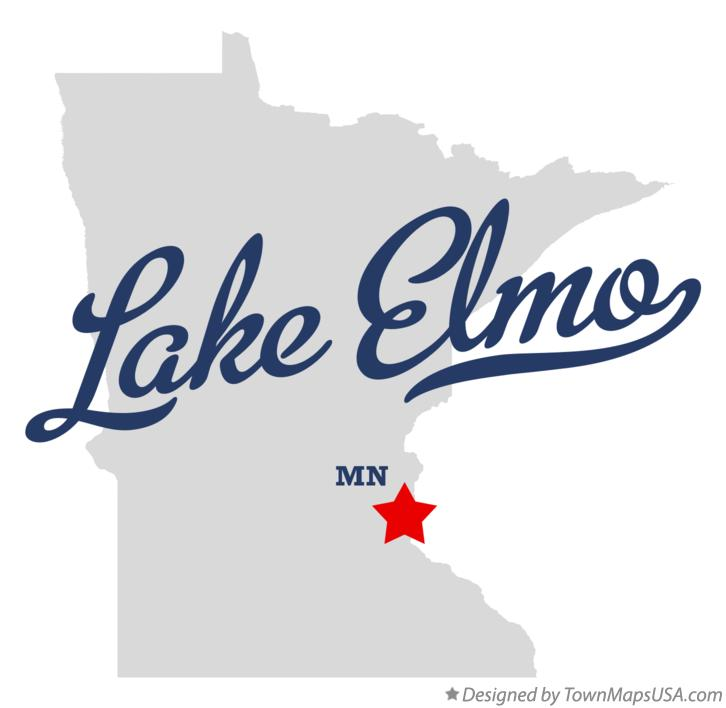 Map of Lake Elmo Minnesota MN
