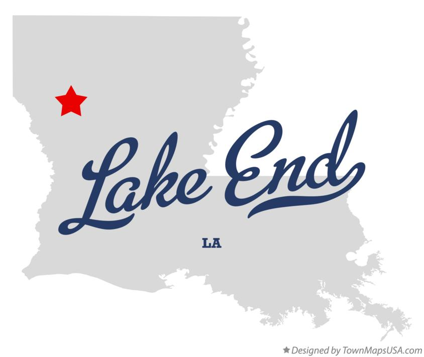 Map of Lake End Louisiana LA