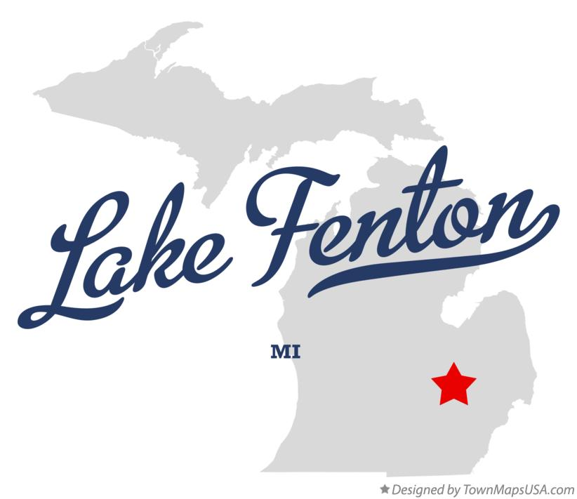 Map of Lake Fenton Michigan MI