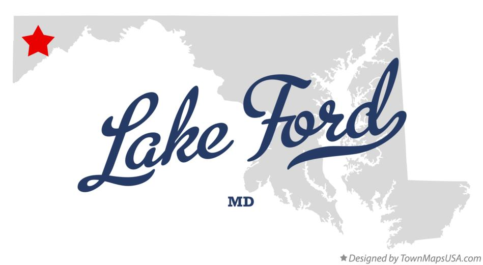 Map of Lake Ford Maryland MD