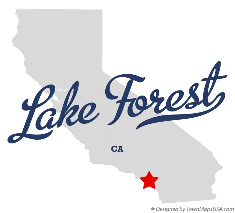 Map of Lake Forest California CA