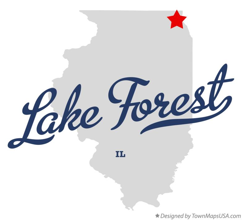 Map of Lake Forest Illinois IL