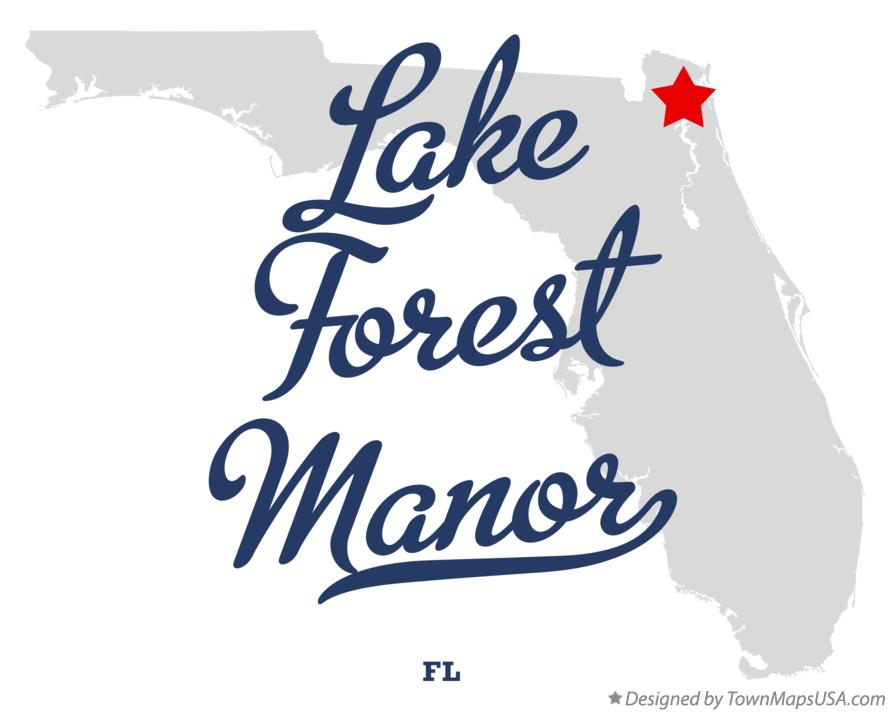 Map of Lake Forest Manor Florida FL
