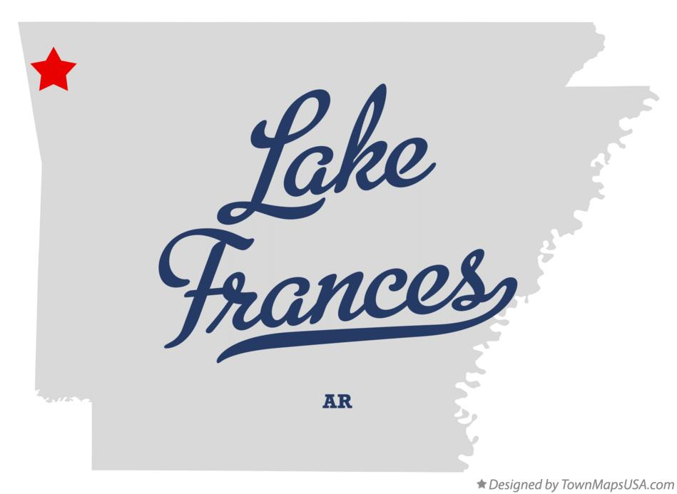 Map of Lake Frances Arkansas AR