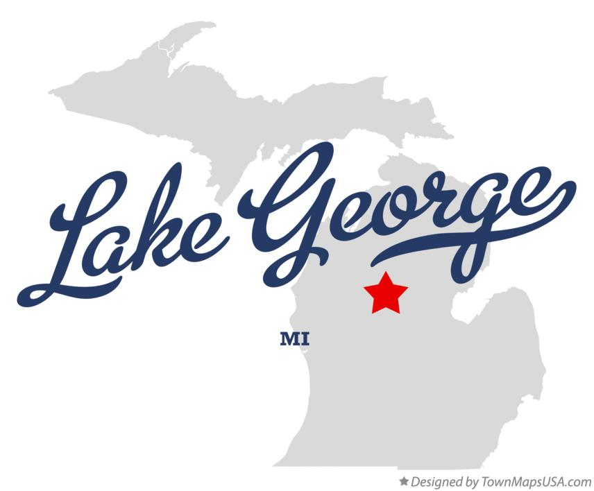 Map of Lake George Michigan MI
