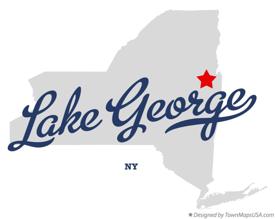 Map of Lake George New York NY