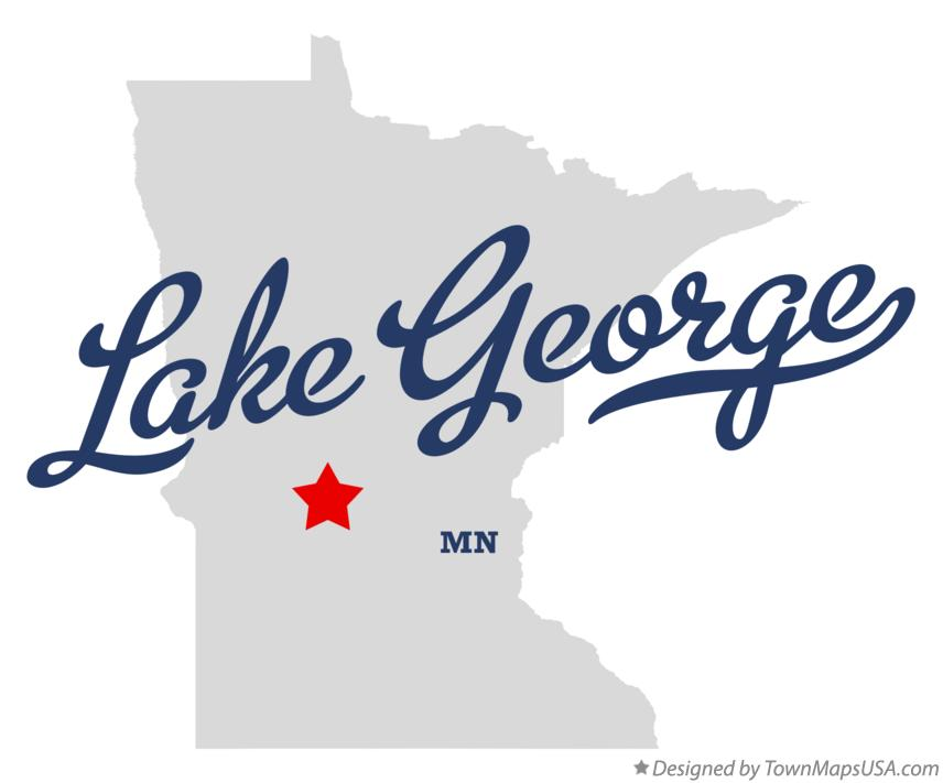 Map of Lake George Minnesota MN