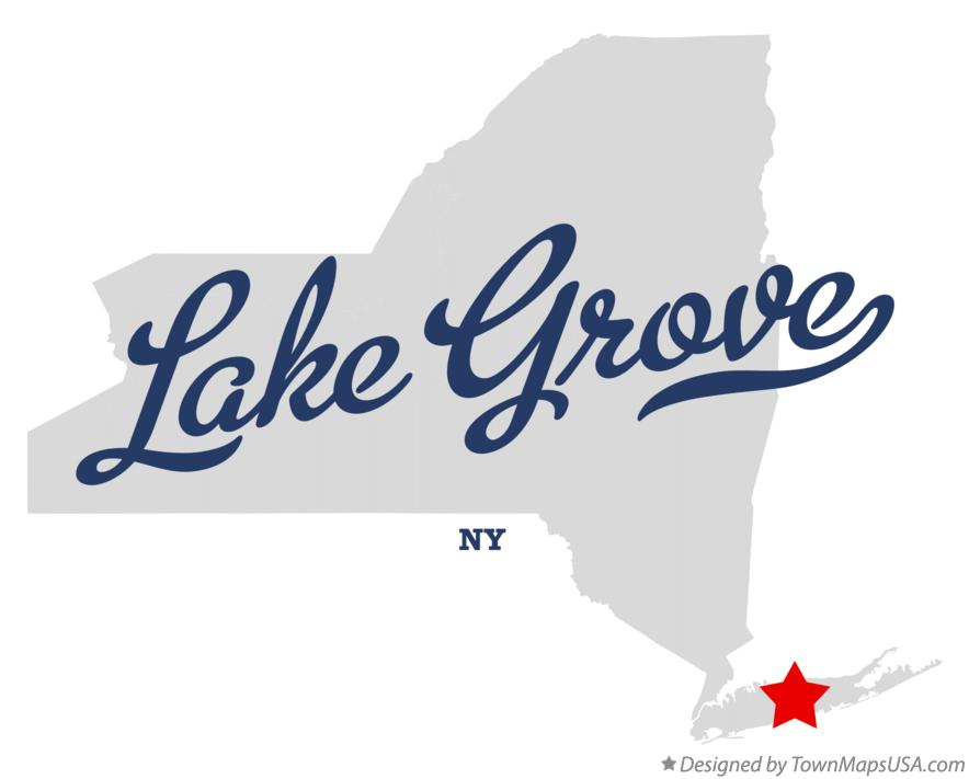 Map of Lake Grove New York NY