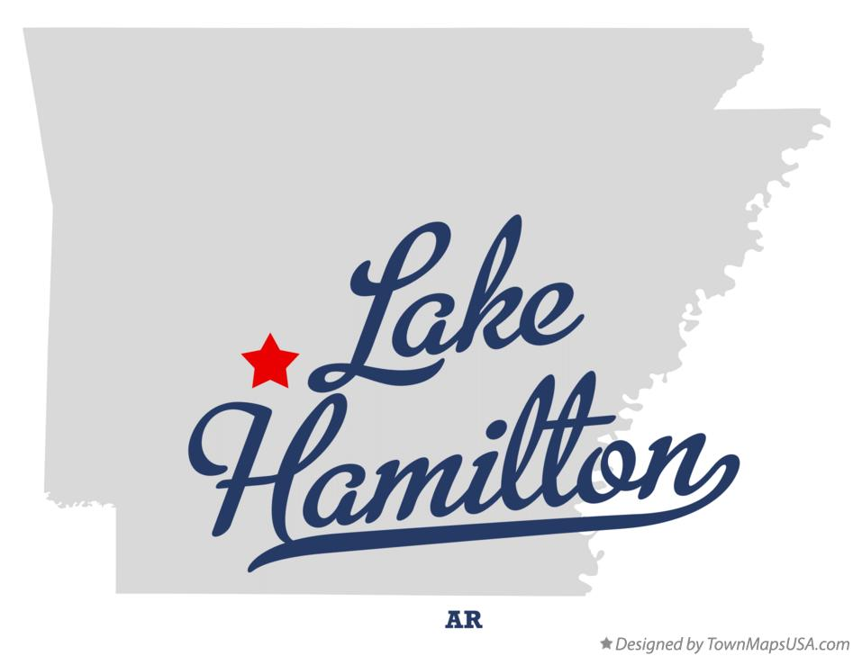 Map of Lake Hamilton Arkansas AR