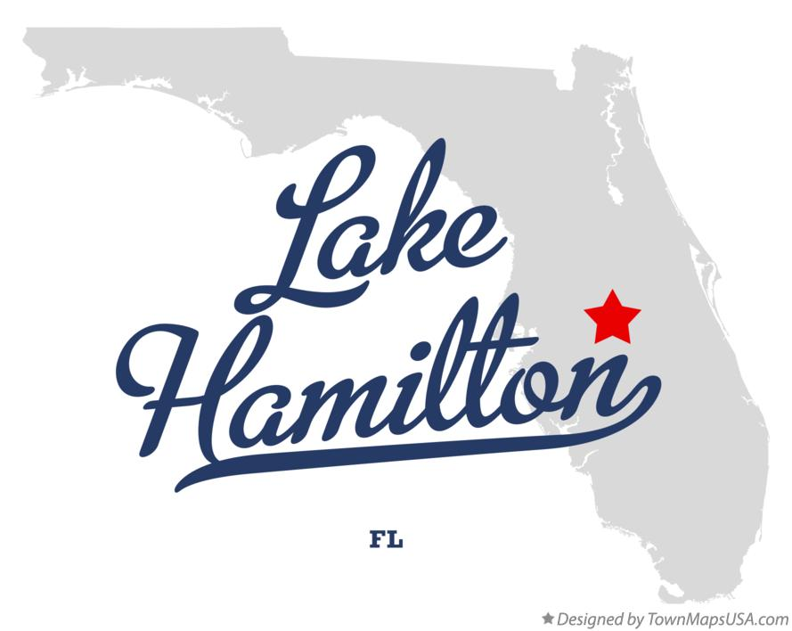 Map of Lake Hamilton Florida FL