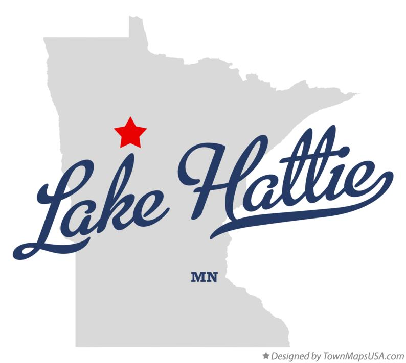 Map of Lake Hattie Minnesota MN