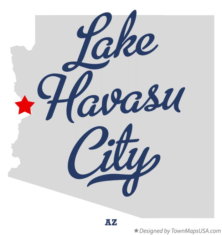 Map of Lake Havasu City Arizona AZ