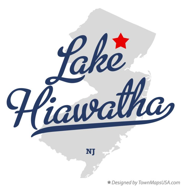 Map of Lake Hiawatha New Jersey NJ