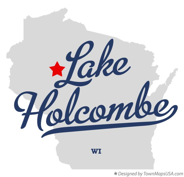 Map of Lake Holcombe Wisconsin WI