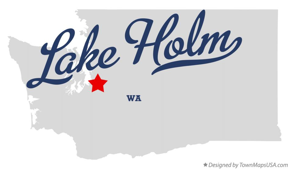 Map of Lake Holm Washington WA