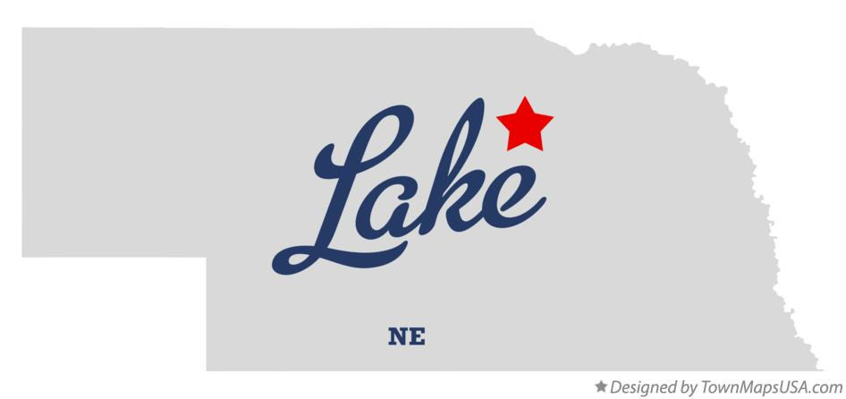 Map of Lake Nebraska NE
