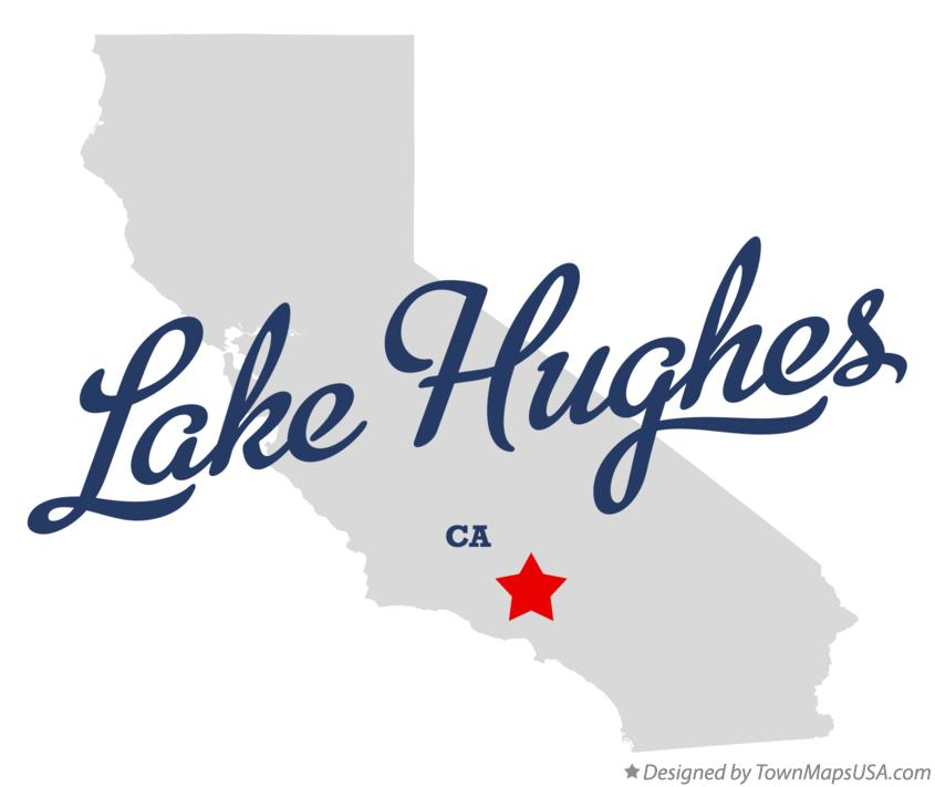 Map of Lake Hughes California CA