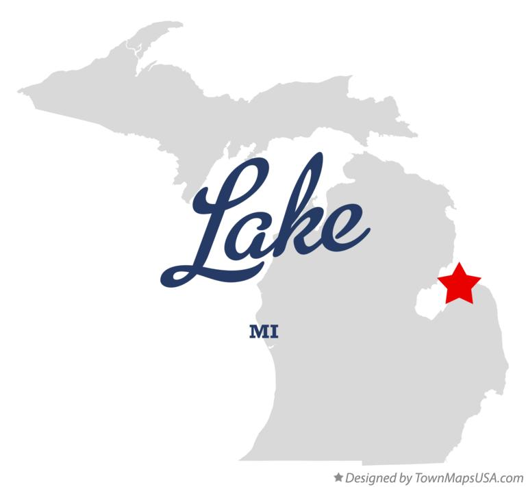 Map of Lake Michigan MI