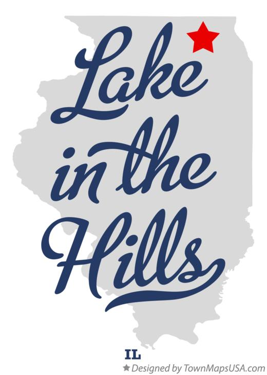 Map of Lake in the Hills Illinois IL