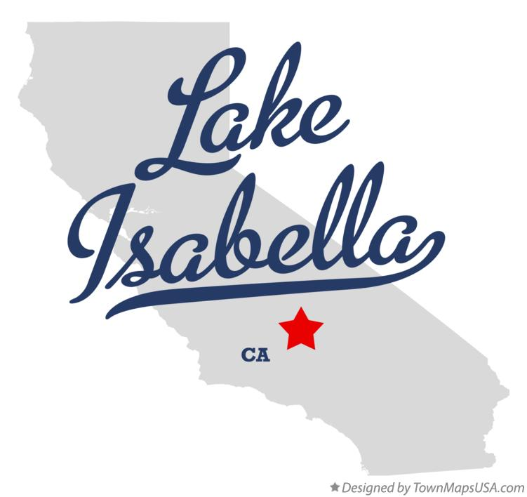 Map of Lake Isabella California CA