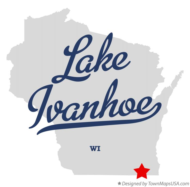 Map of Lake Ivanhoe Wisconsin WI