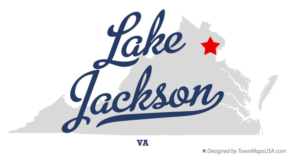 Map of Lake Jackson Virginia VA