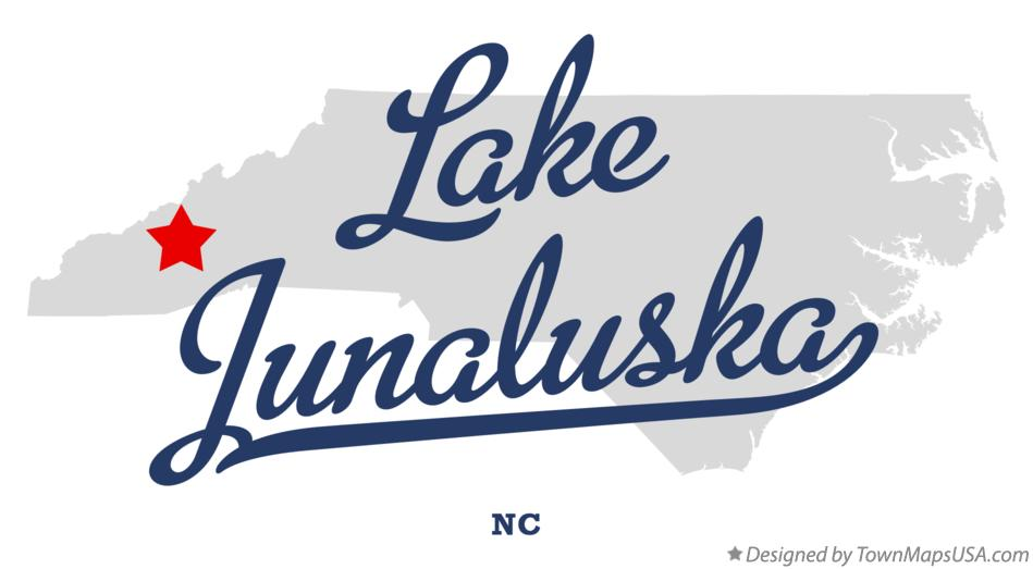 Map of Lake Junaluska North Carolina NC