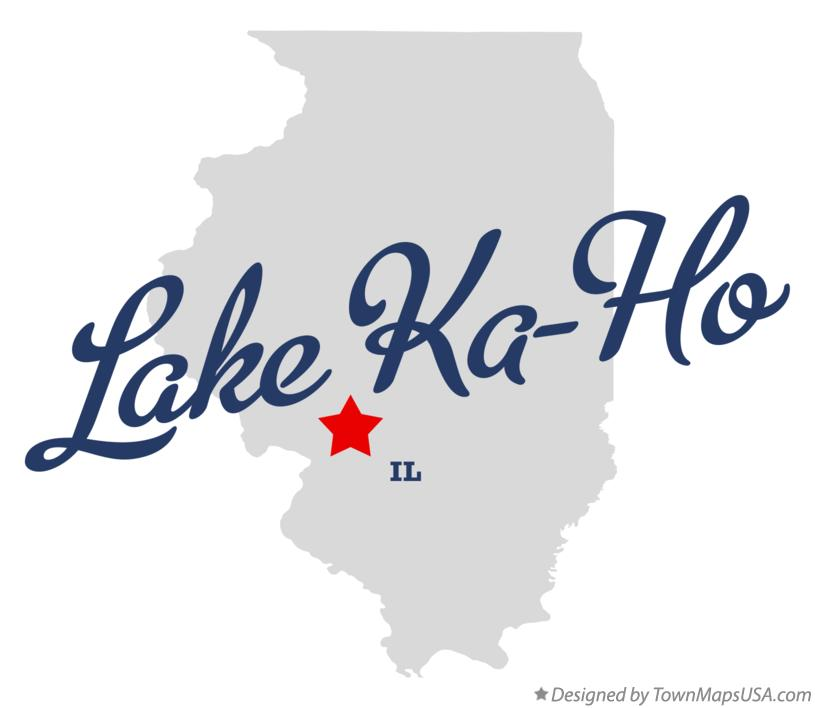 Map of Lake Ka-Ho Illinois IL