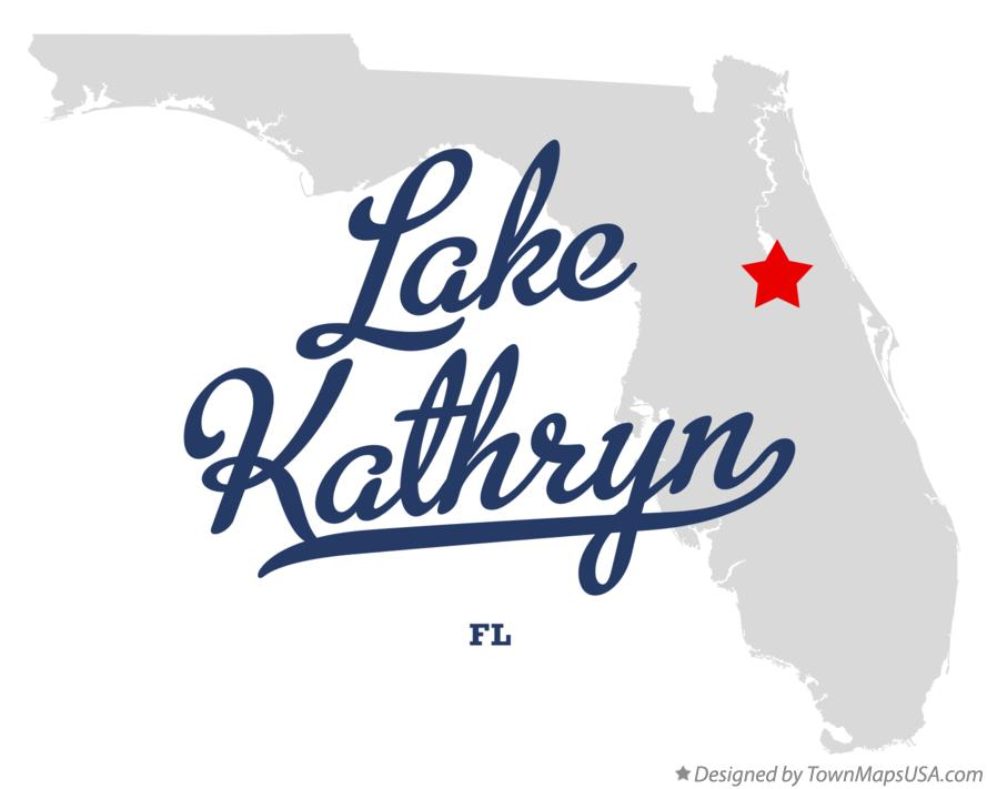 Map of Lake Kathryn Florida FL