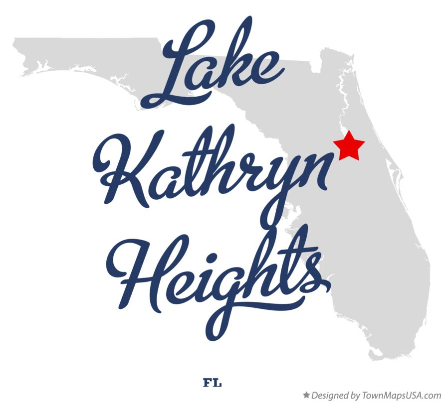 Map of Lake Kathryn Heights Florida FL