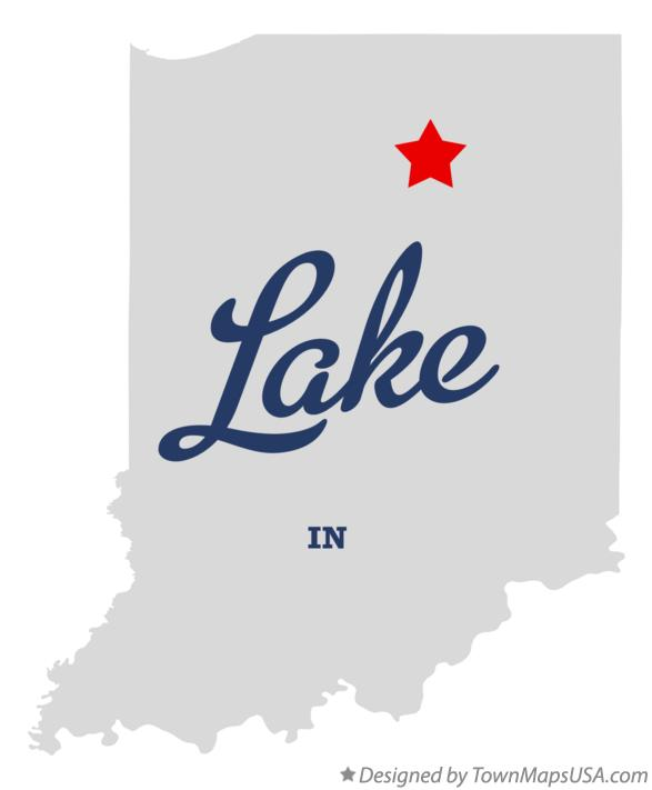 Map of Lake Indiana IN