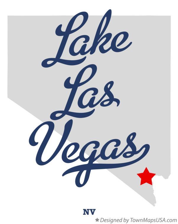 Map of Lake Las Vegas, NV, Nevada