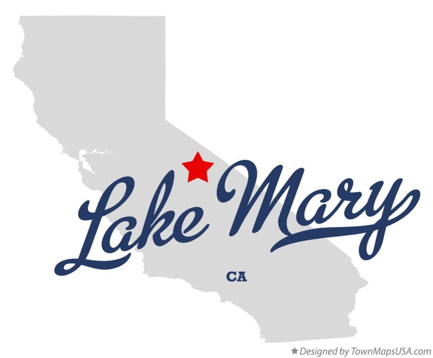 Map of Lake Mary California CA