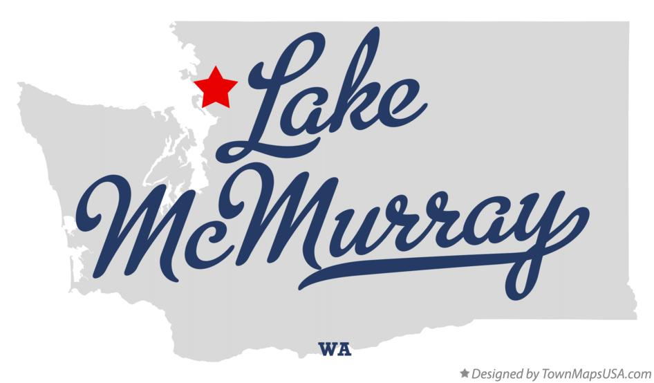 Map of Lake McMurray Washington WA